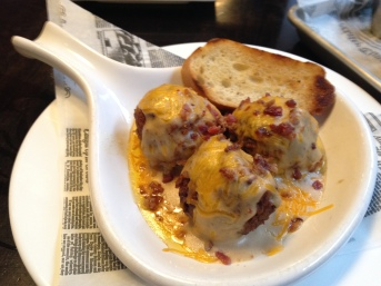 Not your Nana's meatballs $9 with no option for tots for $2.50