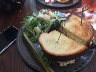 Egg and Gravlax Sandwich