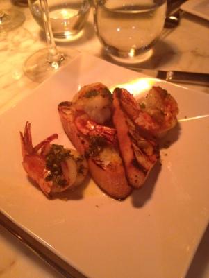 Shrimp with Salsa Verde