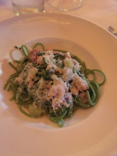 Green Garlic Spaghetti with Crawfish $16