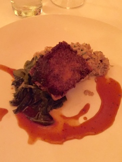 Crispy Pork Confit with dirty rice and pickled collards $27