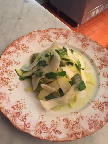 Raw Zucchini with Olives, Mint and Pecorino $14