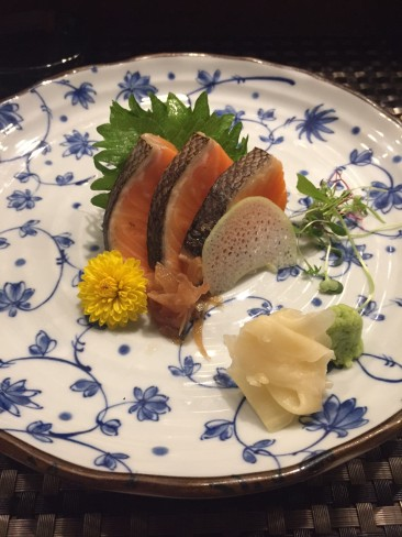 King Salmon Sashimi $8